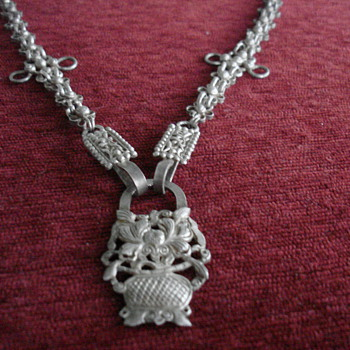 Silver Necklace....Chatelaine?? - Accessories