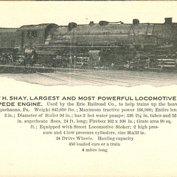 Erie Railroad 2-8-8-8-2 Triplex