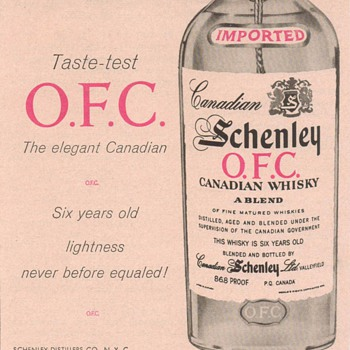 1955 Schenley O.F.C. Advertisement