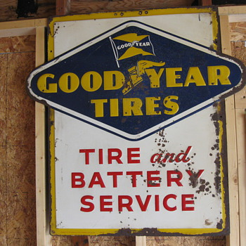 goodyear tires sign dated 6-55 - Petroliana