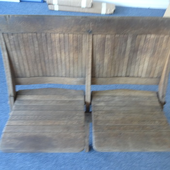 Oak folding seats Beach/School/Theatre?