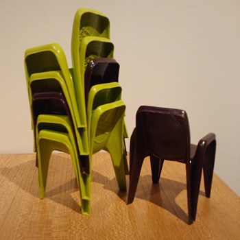 'INTEGRA' SIDE CHAIR MINIATURES - Mid-Century Modern