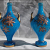 Pair Harrach Mantle Vases