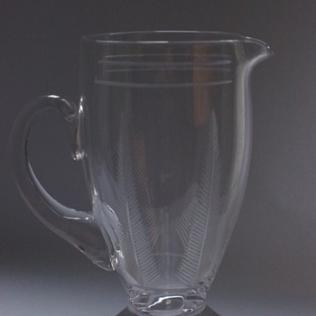 Stuart Crystal Jugs 1930s - Art Deco