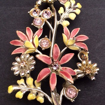 Antique enamel brooch? - Costume Jewelry