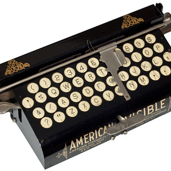 American Visible typewriter - 1891