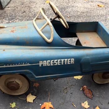 Pacesetter Convertible Unrestored Pedal Car