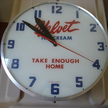 Velvet Ice Cream Clock. Take Enough Home.
