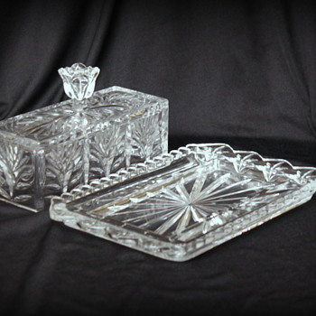 Waterford crystal butter dish and vase ?