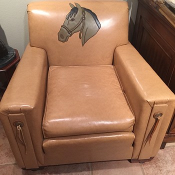 Cowboy western chair and sofa vintage