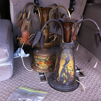 Vintage Brass Vase Lamps - Lamps