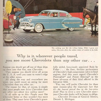 1953 - Chevrolet Bel-Air Advertisement