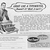 1952 - Coxhead &quot;Vari-Typer&quot; Typewriter Advertisement