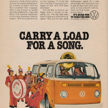 1978 Volkswagen Bus Advertisement