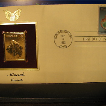 Minerals First Day Cover