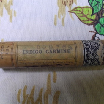 Indigo Carmine ink bottle.