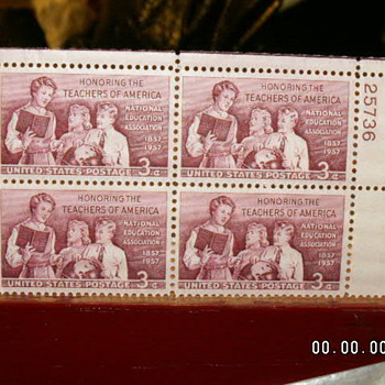 4- 1957 Honoring The Teachers of America - Stamps
