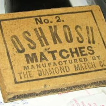 Oshkosh Matches #2 Diamond Match Co.  - Tobacciana