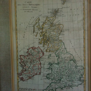 Map of the British Isles containing the kingdoms of England, Scotland, Ireland - Paper