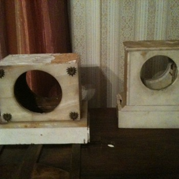 marble clock case - Clocks