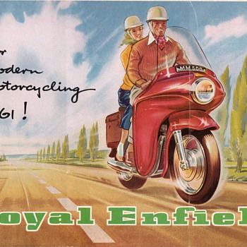 1961 Royal Enfield Motorcycles Brochure / Poster - Advertising