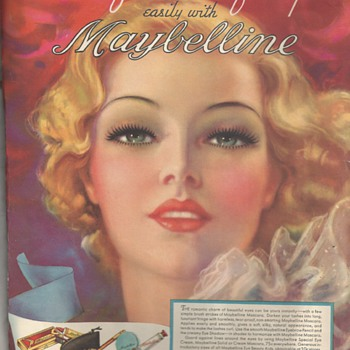 "Advertizing Maybellin""Eyes Beauty Product""1937 Era"