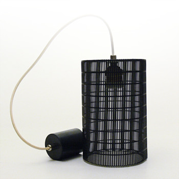Anonymous black hanging lamp (ca.1960?) - Lamps