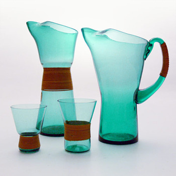 GRN jugs and glasses, Jacob E. Bang (Kastrup, 1960)