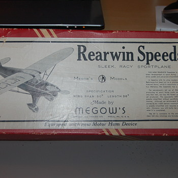 Rearwin Speedster Model Kit No. D7