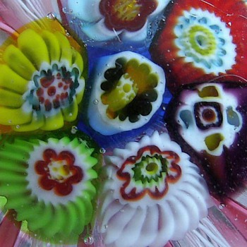 Murano Paperweight -- Latticino - Art Glass