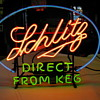 ca. 1940 schlitz &quot;direct from keg&quot; neon sign