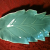 Catalina pottery, turqouise leaf