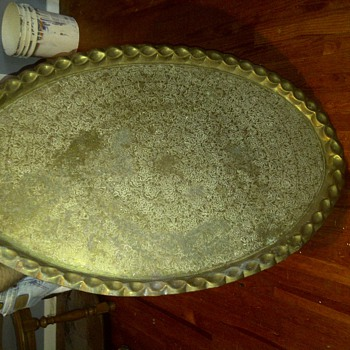4 foot bronze vintage plate 1800&#039;s presidential - China and Dinnerware
