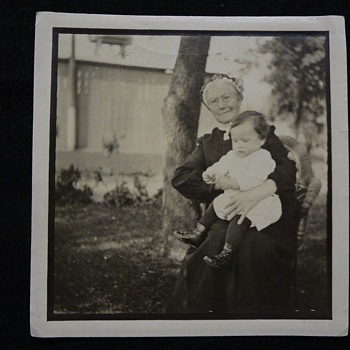 SWEETEST, DEAREST GREAT GREAT GRANNY AND BEAUTIFUL BABY IN HIGH-BUTTON SHOES! - Photographs