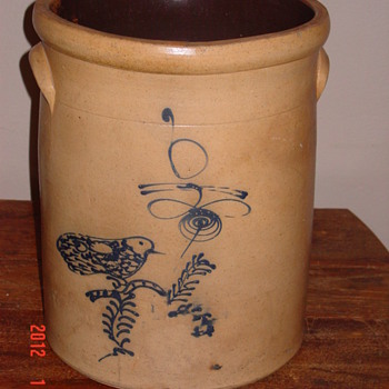 6 gal. salt glazed crock - China and Dinnerware