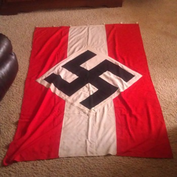 Vintage Original WW2 Era German Flag - Military and Wartime