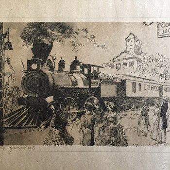 Old Train Print The General - Railroadiana