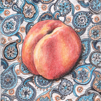 A Nice ACEO Card, Paisley Peach - Cards
