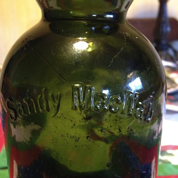 Sandy MacNab Forest green blob top bottle  - Bottles