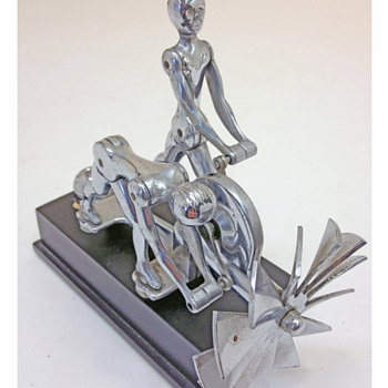 The Action Twins Hood Ornament 1931 - Art Deco