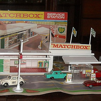 Matchbox MG-1 BP Serivice Station 1967-1969 - Model Cars