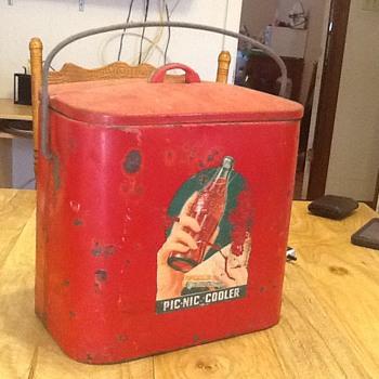 Vintage Coca Cola Pic-Nic Cooler