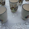 vintage unmarked glazed ceramic pitcher set?