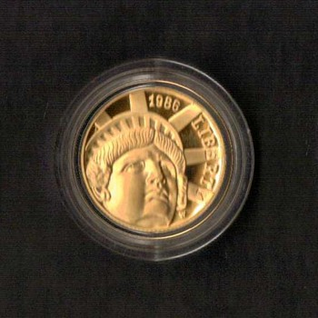 1986 - Statue of Liberty Proof $5 Gold Coin