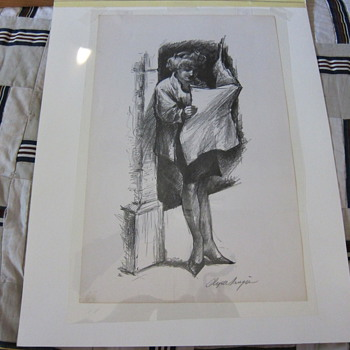 "Clyde Singer  (Signed)  -  ""THE DAILY NEWS""  -  Lithograph"