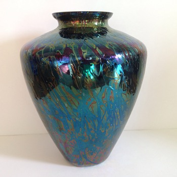 Unknowing unsigned Iridescent glass Vase