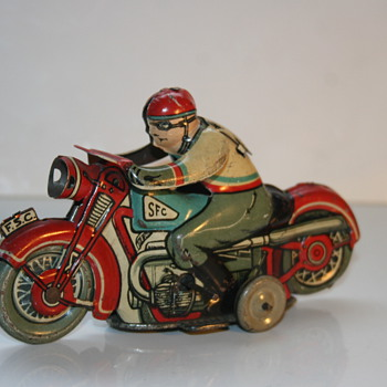 SFC motorcycle tin toy