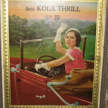 buvez kola thrill  12 oz pour 5 ¢ in french