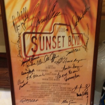 Sunset Blvd 1993 Cast Signed Play Poster