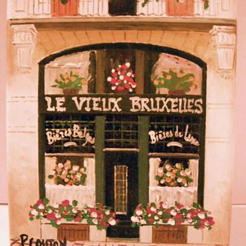 LE VIEUX BRUXELLES painting - Folk Art